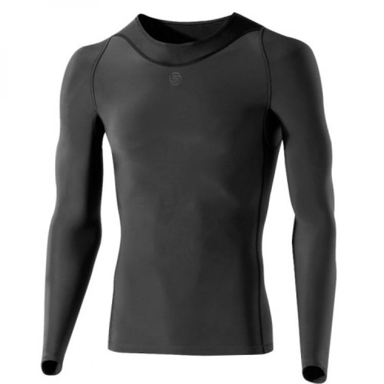 skins herren ry400 recovery compression longsleeve langarm shirt mit kompression b43039005. Black Bedroom Furniture Sets. Home Design Ideas