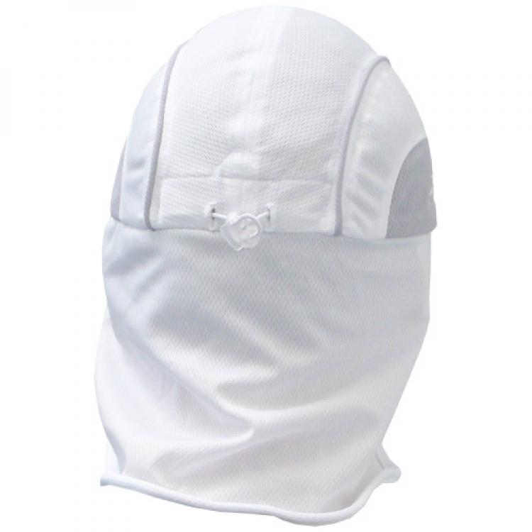 Weiße Sommermütze mit Nackentuch und Sonnenschild von HeadSweats ... 59c29bcc344