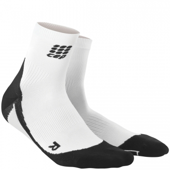 CEP Run 2.0 Short Cut Compression Socks Damen | White Black