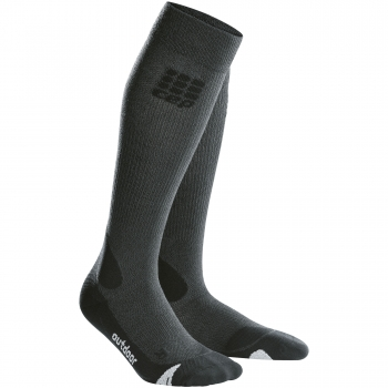 CEP Outdoor Merino Compression Socks Damen | Grey Black