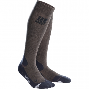 CEP Outdoor Merino Compression Socks Damen | Brown Black