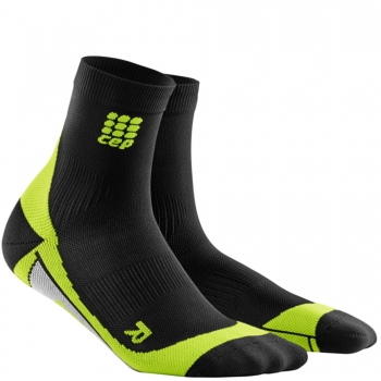 CEP Run 2.0 Short Cut Compression Socks Herren | Black Green