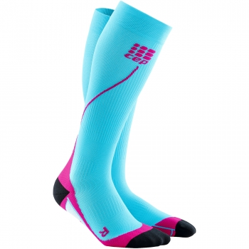 CEP Run 2.0 Compression Socks Damen | Hawaii Blue Pink