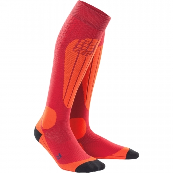 CEP Ski Thermo Compression Socks Damen | Cranberry Orange