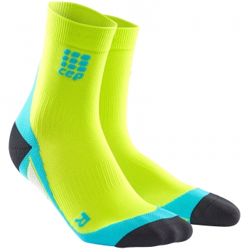 CEP Run 2.0 Short Cut Compression Socks Herren | Lime Hawaii Blue