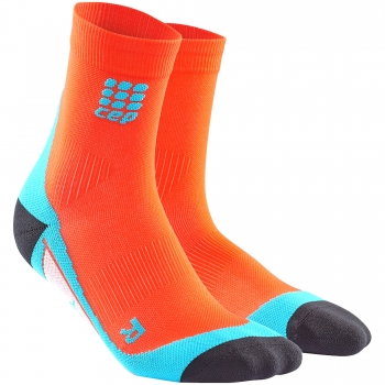 CEP Run 2.0 Short Cut Compression Socks Herren | Sunset Hawaii Blue
