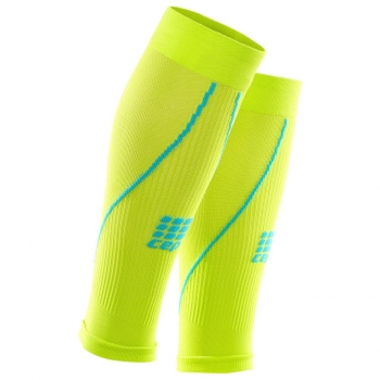 CEP 2.0 Compression Calf Sleeves Herren | Lime Hawaii Blue