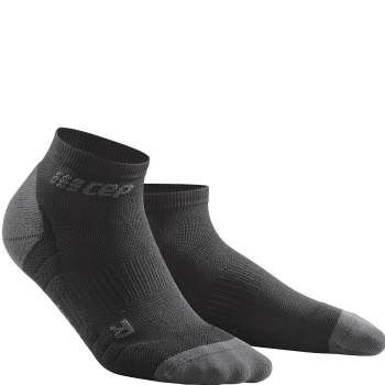 CEP Run 3.0 Low Cut Compression Socks Herren | Black Dark Grey