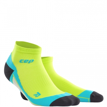CEP Run 2.0 Low Cut Compression Socks Herren | Lime Hawaii Blue