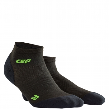 CEP Run Ultralight Low Cut Compression Socks Herren | Black Green