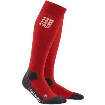 CEP Outdoor Light Merino Compression Socks Damen | Deep Magma