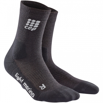 CEP Outdoor Light Merino Mid Cut Compression Socks Herren | Lava Stone