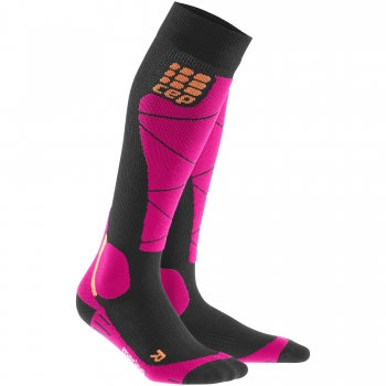 CEP Ski Merino Compression Socks Damen | Black Pink