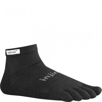 Injinji Run Original Weight Mini Crew | Black | Mitteldick