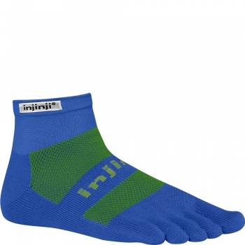 Injinji Run Original Weight Mini Crew | Blue | Mitteldick