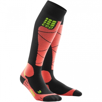 CEP Ski Merino Compression Socks Damen | Black Coral