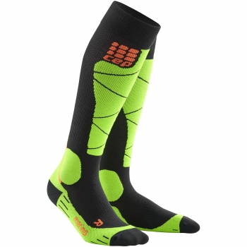 CEP Ski Merino Compression Socks Damen | Black Lime