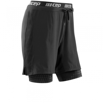 CEP Training Compression 2-in-1 Short Herren | Black