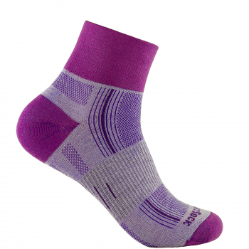 Wrightsock Stride Quarter | Purple | Mitteldick