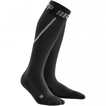 CEP Run Winter Compression Socks Damen | Grey Black
