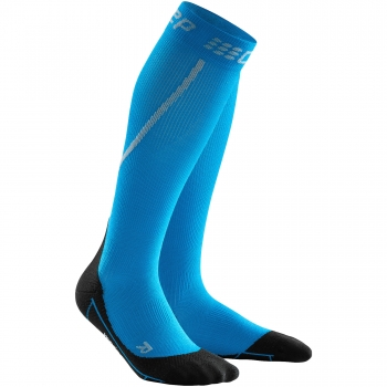 CEP Run Winter Compression Socks Damen | Electric Blue Black