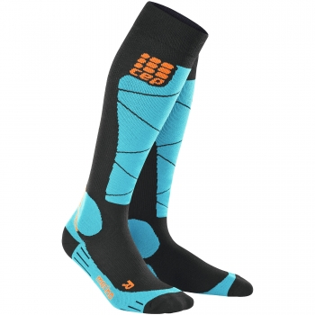CEP Ski Merino Compression Socks Damen | Black Azur