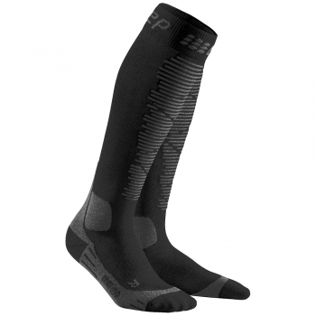 CEP Ski Merino Compression Socks Damen | Black Anthracite