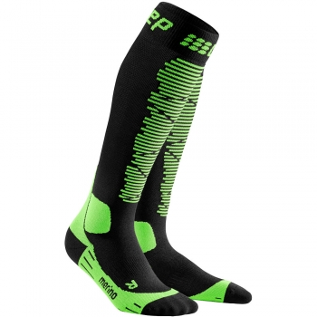 CEP Ski Merino Compression Socks Herren | Black Green
