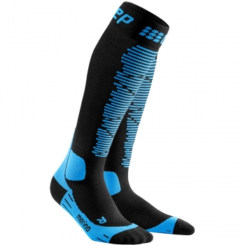 CEP Ski Merino Compression Socks Herren | Black Blue