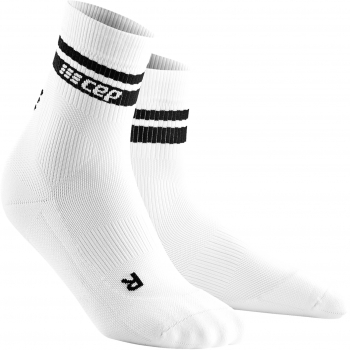 CEP Run 3.0 - 80's Compression Mid Cut Socks Damen | White Black