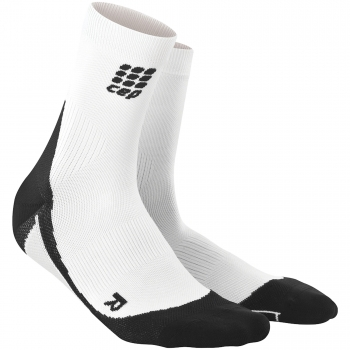 CEP Run 2.0 Short Cut Compression Socks Herren | White Black