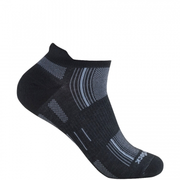 Wrightsock Stride Low Tab | Black | Mitteldick