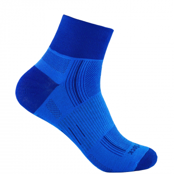 Wrightsock Stride Quarter | Blue Royal | Mitteldick