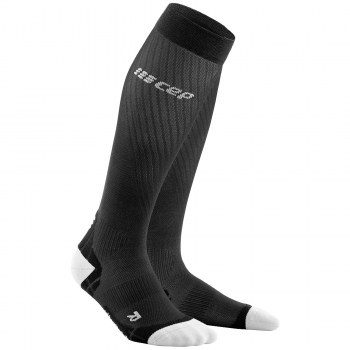 CEP Run Ultralight Compression Socks Herren | Black Light Grey