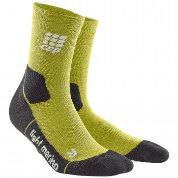 CEP Outdoor Light Merino Mid Cut Compression Socks Herren | Fresh Grass
