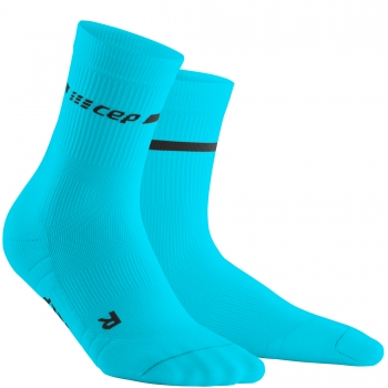 CEP Run 3.0 Neon Compression Mid Cut Socks Herren | Neon Blue