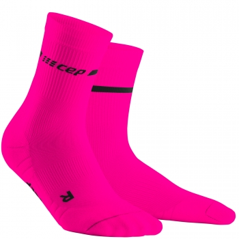 CEP Run 3.0 Neon Compression Mid Cut Socks Damen | Neon Pink