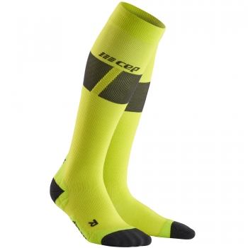 CEP Ski Ultralight Compression Socks Herren | Lime Dark Grey