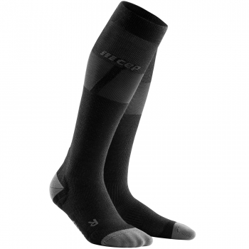 CEP Ski Ultralight Compression Socks Damen | Black Dark Grey