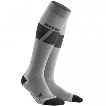 CEP Ski Ultralight Compression Socks Damen | Grey Dark Grey