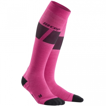 CEP Ski Ultralight Compression Socks Damen | Pink Dark Grey