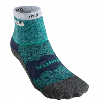 Injinji Liner+Runner Mini Crew | Everglade-Green | Doppellagig