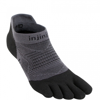 Injinji Run Lightweight No Show | Black | Dünn