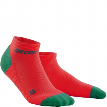 CEP Run 3.0 Low Cut Compression Socks Damen | Red Green