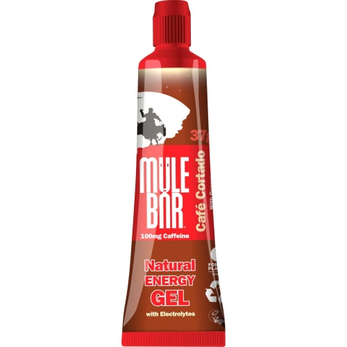 Mule Bar Natural Energy Kick Gel Cafe Cortado Caffeine