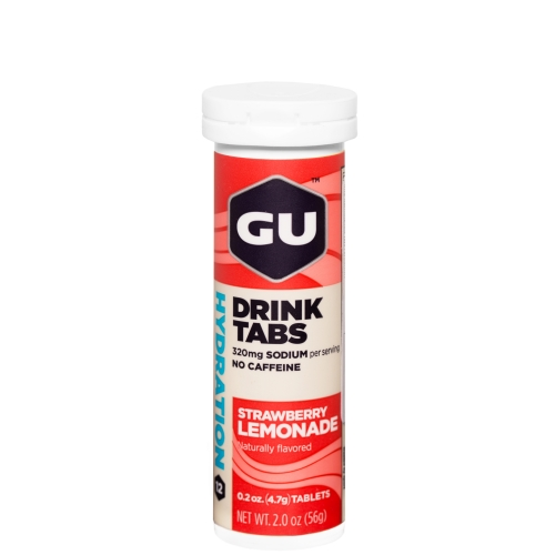 GU Hydration Drink Tabs Strawberry Lemonade Brausetabletten