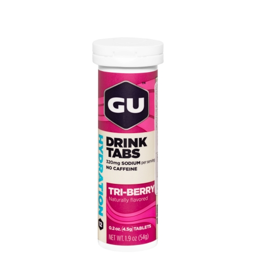 GU Hydration Drink Tabs Strawberry Tri Berry Brausetabletten