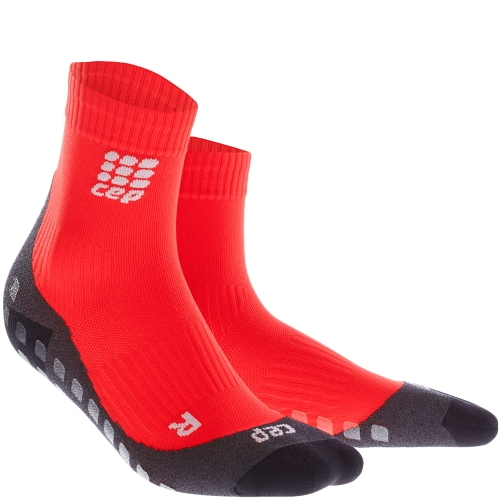 CEP Run Griptech Short Cut Compression Socks Damen | Red